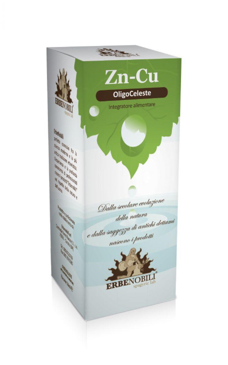 Image of Erbenobili Oligoceleste Zinco-Rame Integratore Alimentare 50ml 920609664