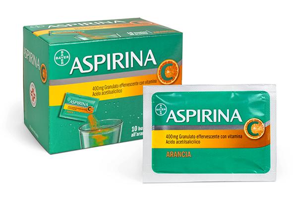 Aspirina C 400mg Granulato Effervescente Con Vitamina C 10 Bustine Arancia