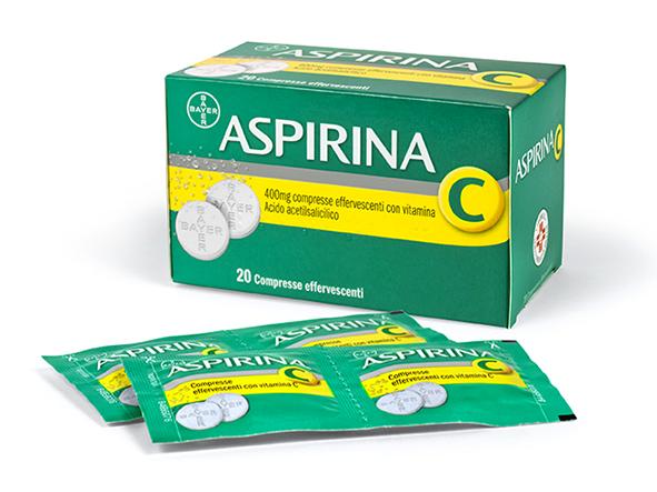 Aspirina C 400mg + 200mg Compresse Effervescenti Con Vitamina C 20 Compresse
