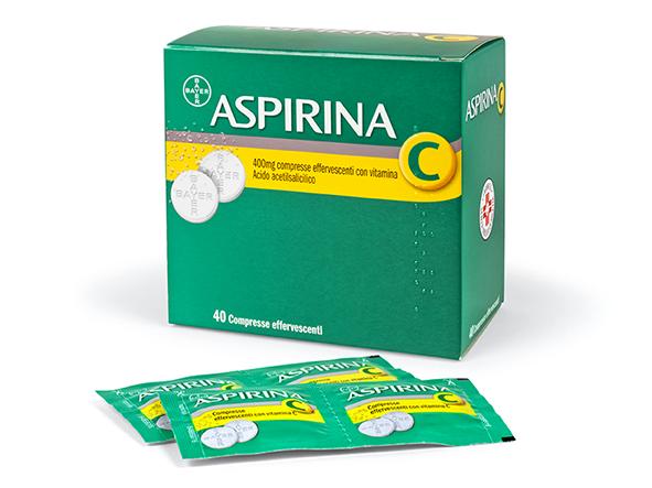 Aspirina C400+ 240mg Compresse Effervescenti Con Vitamina C 40 Compresse