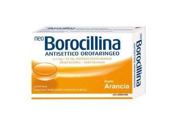 NeoBorocillina Antisettico Orofaringeo 6,4mg + 52mg Arancia 20 Pastiglie