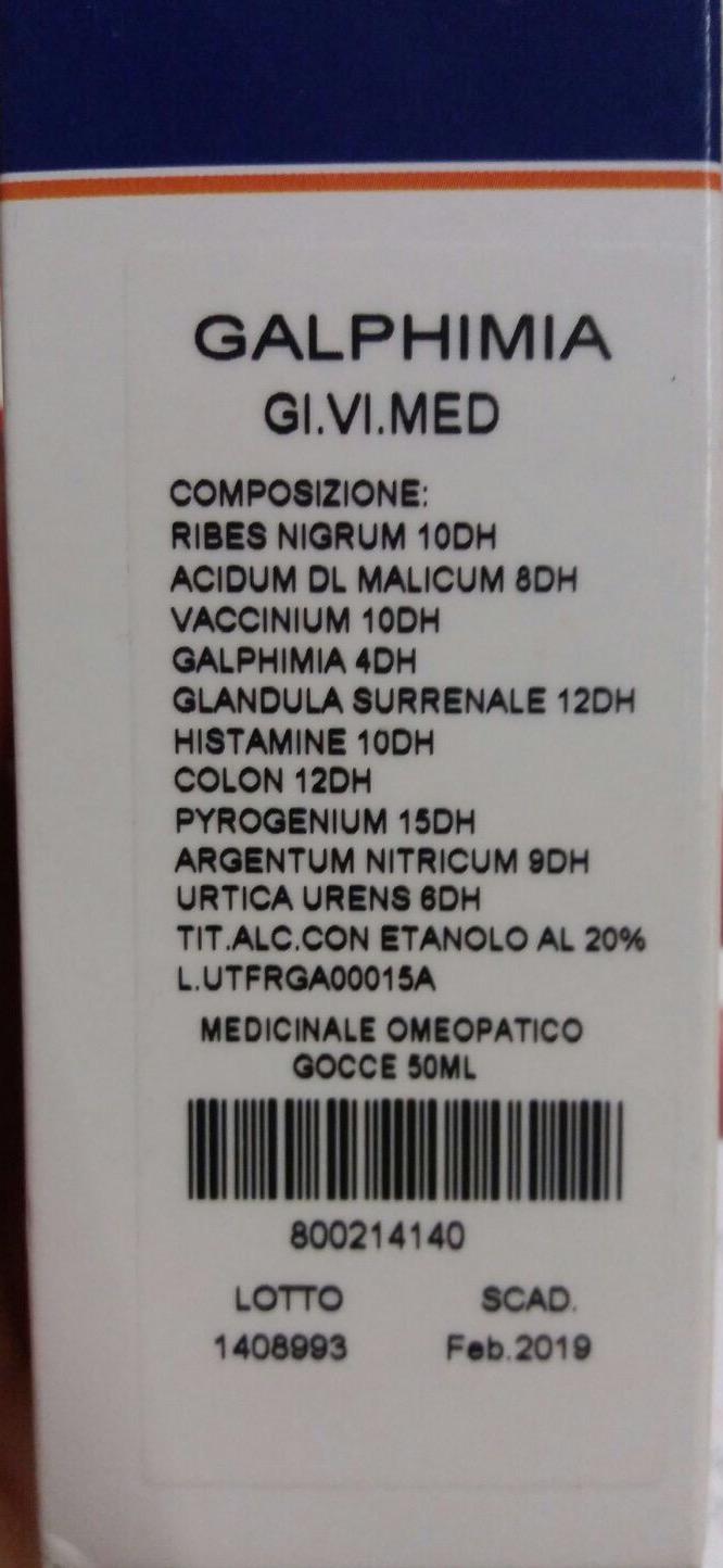 Image of GiViMed Galphimia Gocce Fitoterapico 50ml 800214140