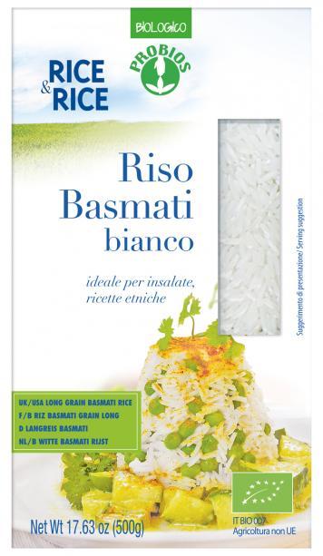 Rice&Rice Riso Basmati Bianco Prodotto Biologico 500g