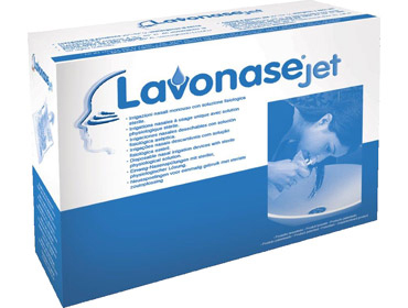 Lavonase 12 Sacche Da 250ml + 12 Dispositivi Irrigazione Nasale
