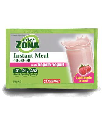 EnerZona Instant Meal 40 30 30 Gusto Fragola Yogurt 1 Busta 50g