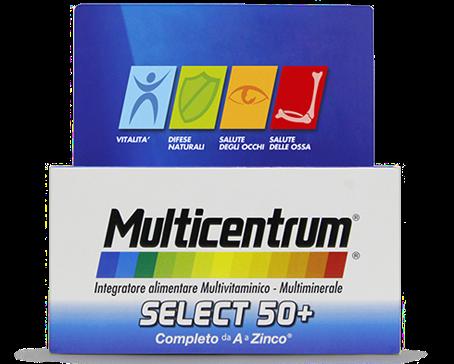 Multicentrum Select 50+ Integratore Alimentare 30 Compresse