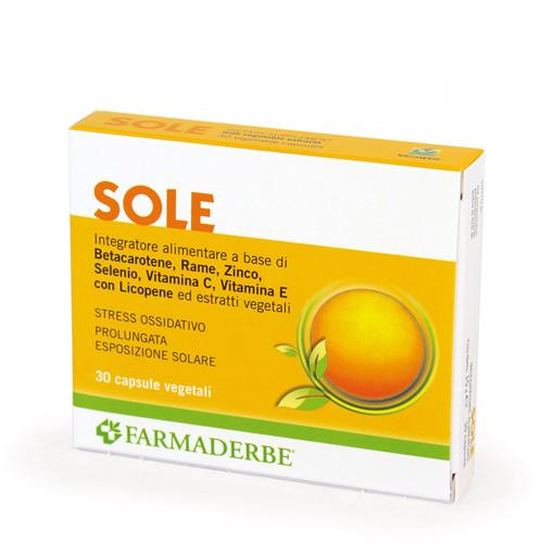 Farmaderbe Sole Integratore Alimentare 30 Capsule
