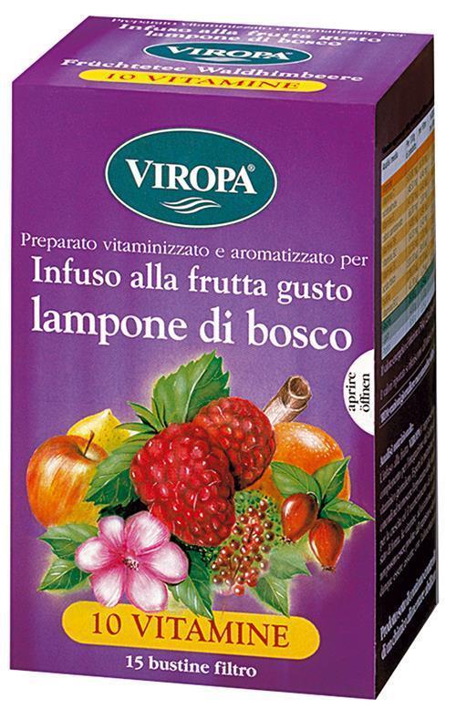 Viropa 10 Vitamine Vitamintee Lampone Di Bosco Infuso Alla Frutta Con Vitamine 15 Bustine