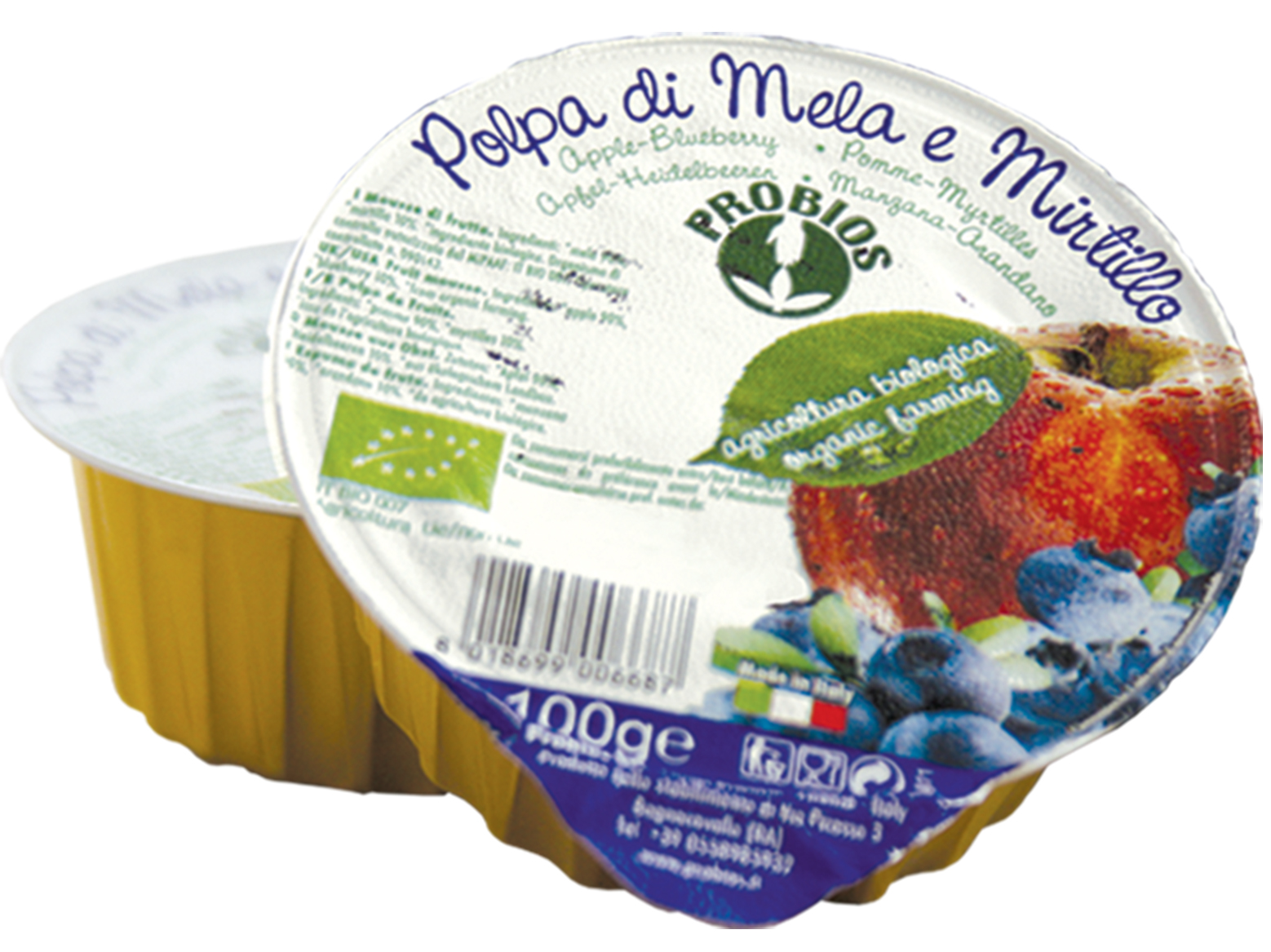 Priobios Frutta Polpa Di Mela E Mirtillo Biologica 100g