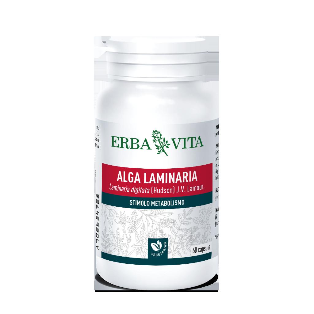 ErbaVita Capsule Monoplanta Alga Laminaria Integratore Alimentare 60 Capsule