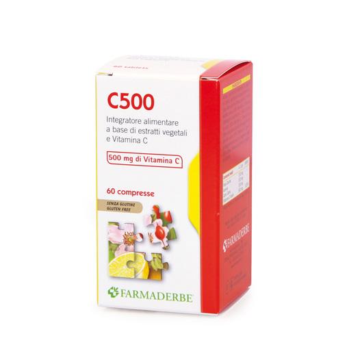 Farmaderbe C 500 Integratore Alimentare 60 Compresse