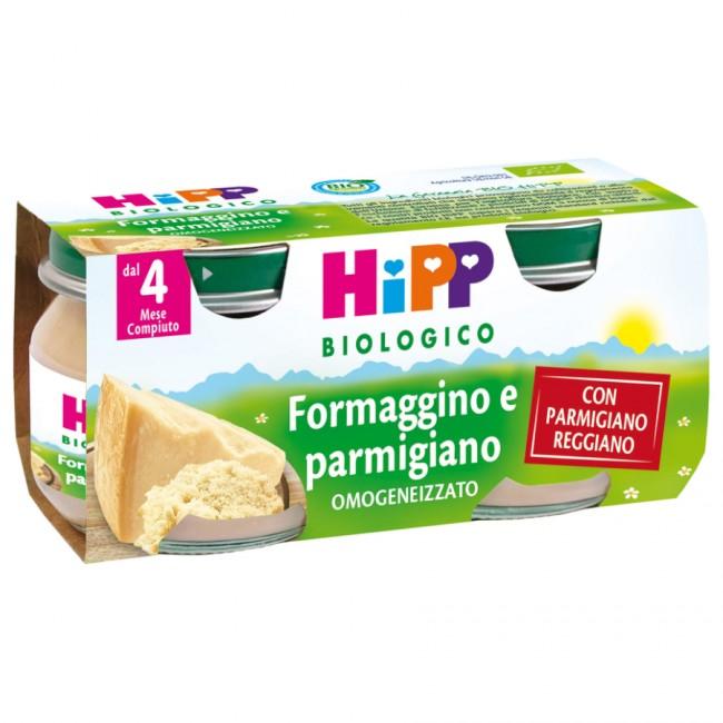 HiPP Biologico Omogeneizzato Formaggino E Parmigiano 2x80g