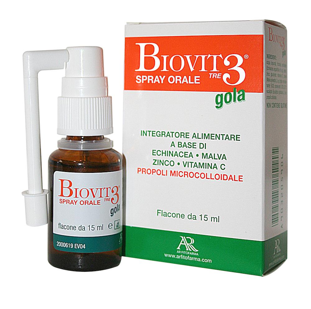 AR Fitofarma Biovit 3 Gola Spray Integratore Alimentare 15ml