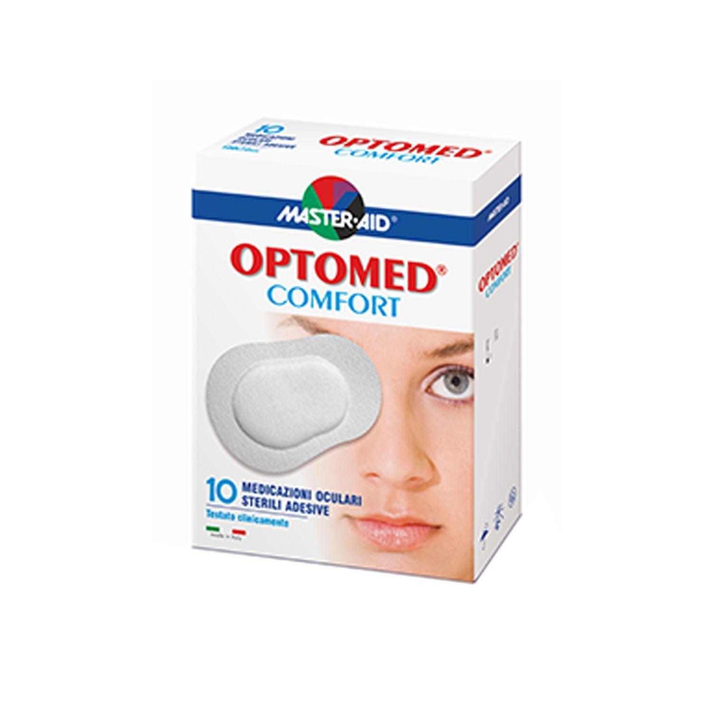 Master Aid® Optomed® Comfort Medicazioni Oculari Sterili Adesive 10 Pezzi 100x72mm