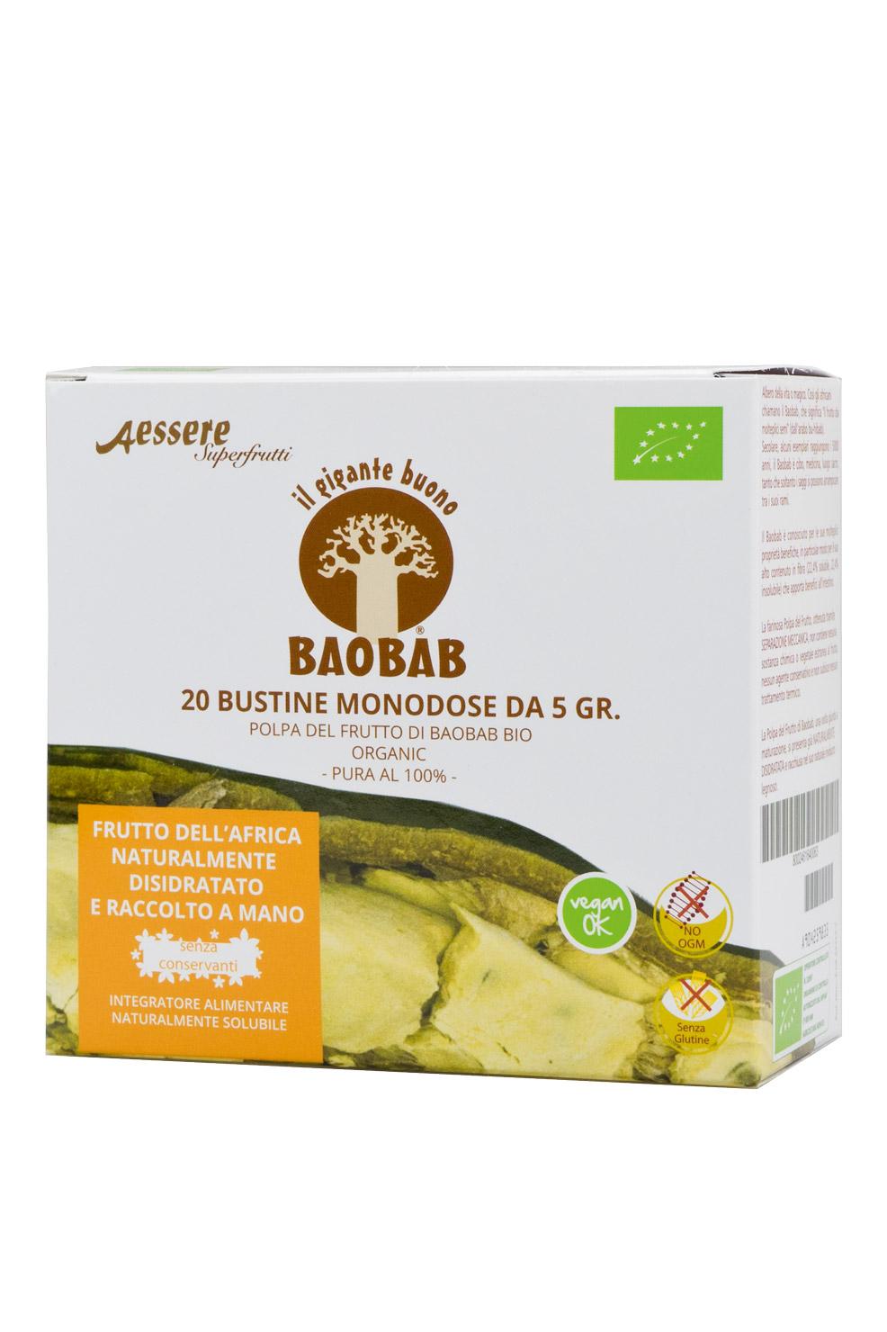Image of Aessere Baobab Polpa Del Frutto 20x5g 904259835