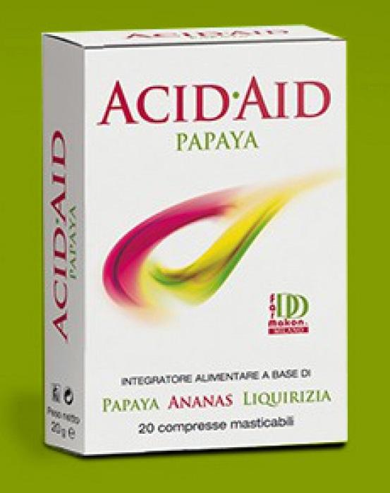 Image of Acid Aid Papaya Integratore Alimentare 20 Compresse Masticabili 904267630