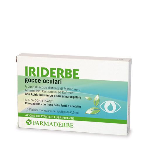 Farmaderbe Iriderbe Gocce Oculari Monodose 10x0,5ml