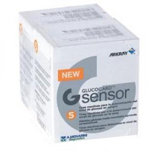 Image of A. Menarini - ArKray Glucocard G Sensor Per La Misurazione Della Glicemia 2x5 Strisce