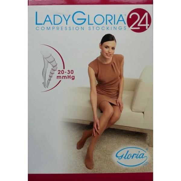 GloriaMed Lady Gloria 24 Autoreggente 240 DEN Colore Nero Taglia 5