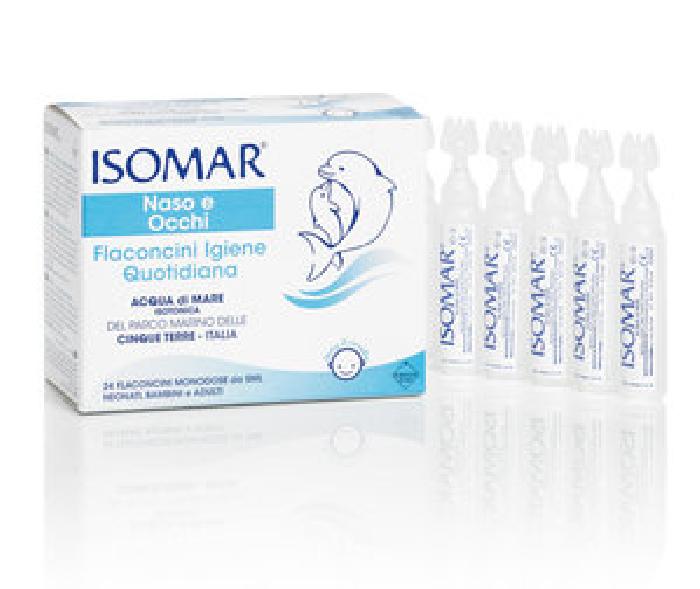 Isomar Naso e Occhi Igiene Quotidiana 24 Flaconcini Monodose Da 5ml