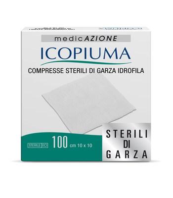 Icopiuma Comrpesse Sterili Di Garza Idrofila 10x10cm 100Pezzi