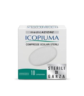 Icopiuma Compresse Oculari Sterili In Garza Di Cotone 10Pezzi