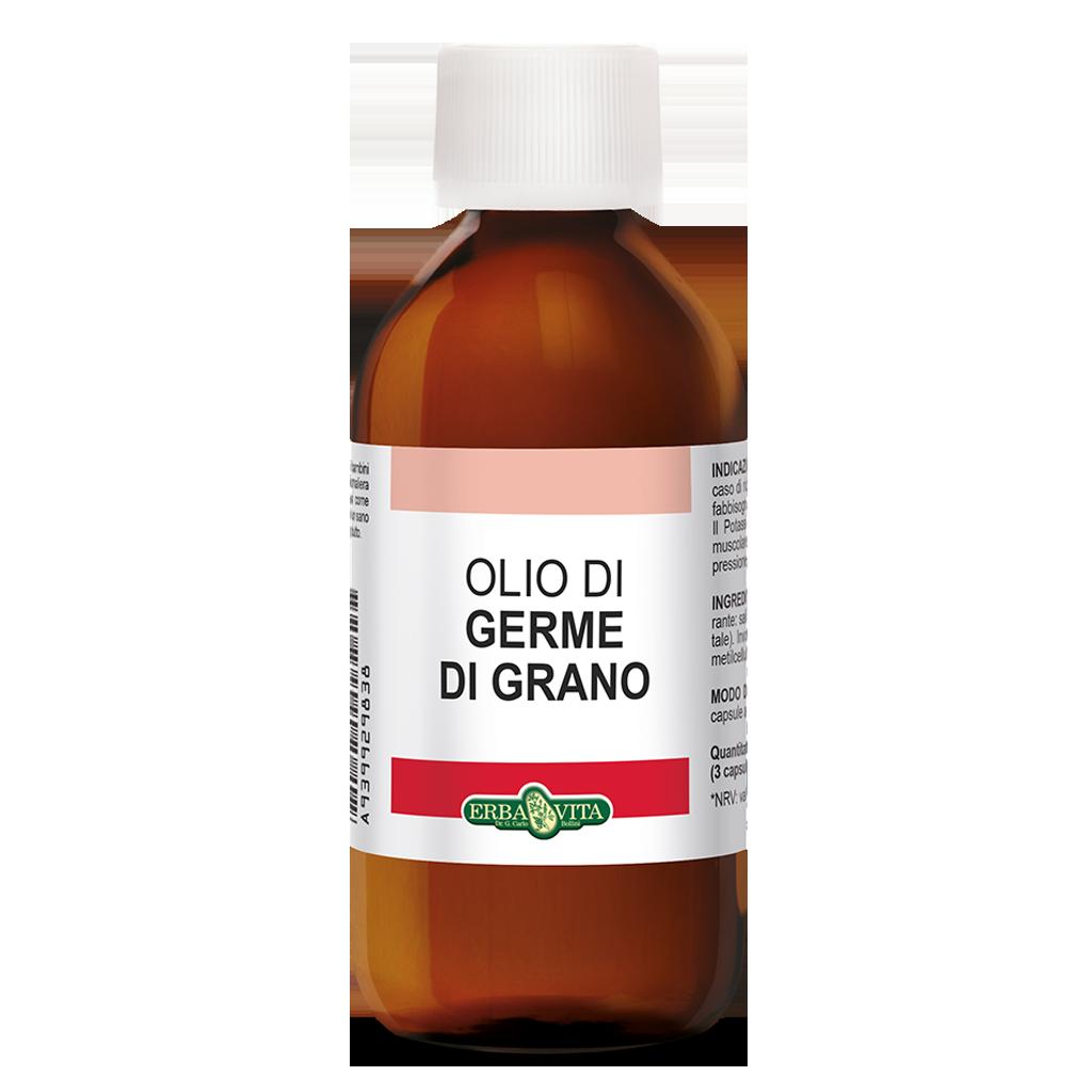 Image of ErbaVita Oli Uso Alimentare Olio Di Germe Di Grano Integratore alimentare 200ml