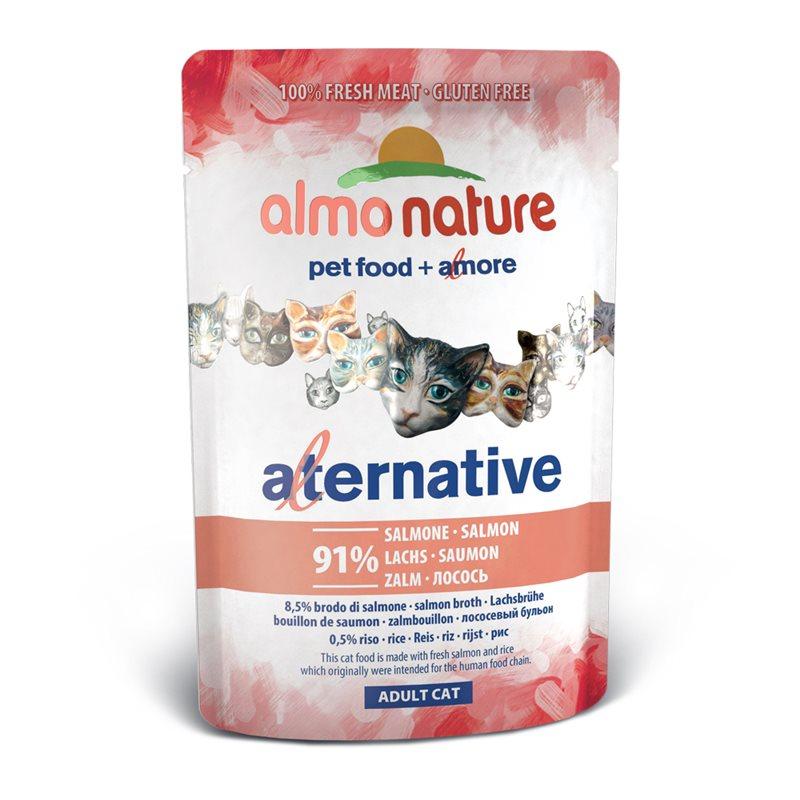 Image of Almo Nature Alternative Salmone Alimenti Per Gatti 70g 907170904