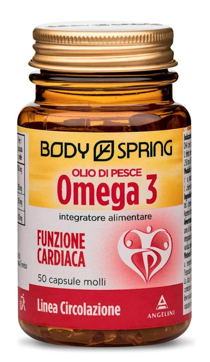 Body Spring Olio Di Pesce Omega3 Funzione Cardiaca Integratore Alimentare 50 Capsule