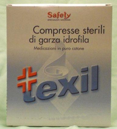 Safety Texil Garza Sterile 36x40cm 12 Compresse Sterili Di Garza Idrofila