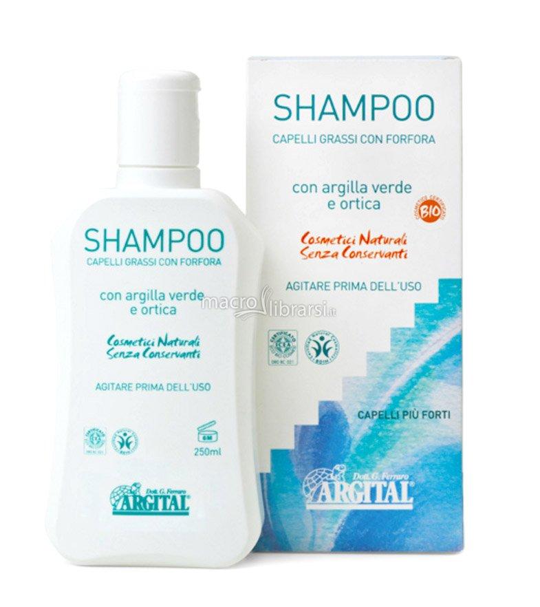 Argital Shampoo con Argilla Verde e Ortica per Capelli Grassi con Forfora  250ml dfd08657460c