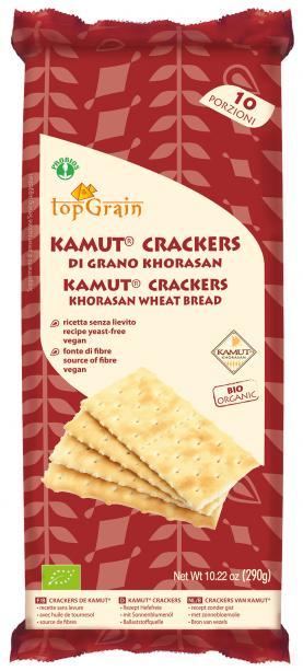 Top Grain Crackers Di Kamut Salati In Superficie Biologici 290g