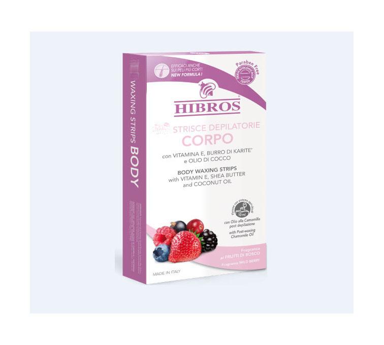 Image of Hibros Strisce Depilatorie Per Corpo 20 Pezzi 911045906
