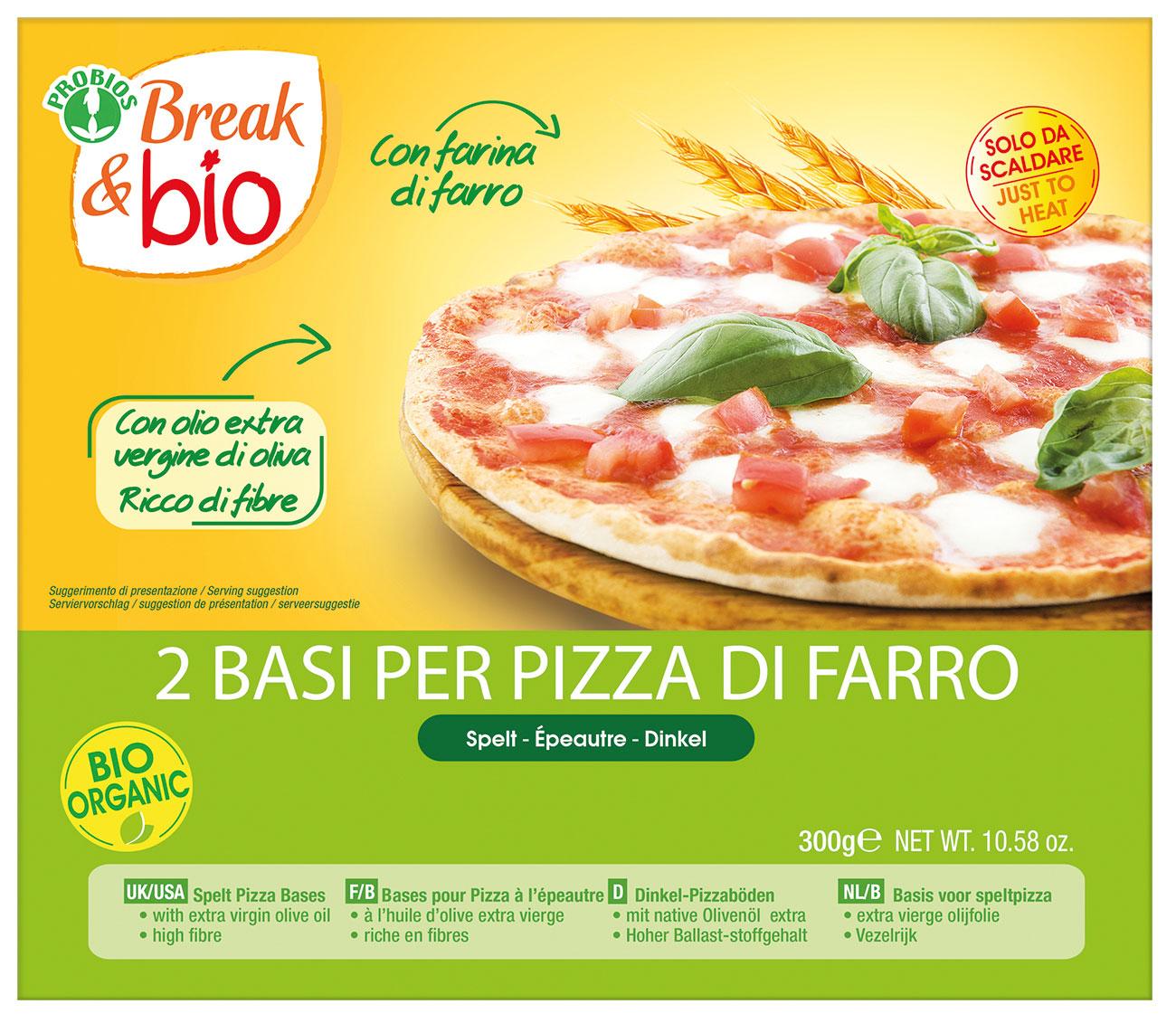 Break&Bio Base Per Pizza Di Farro Biologica 300g