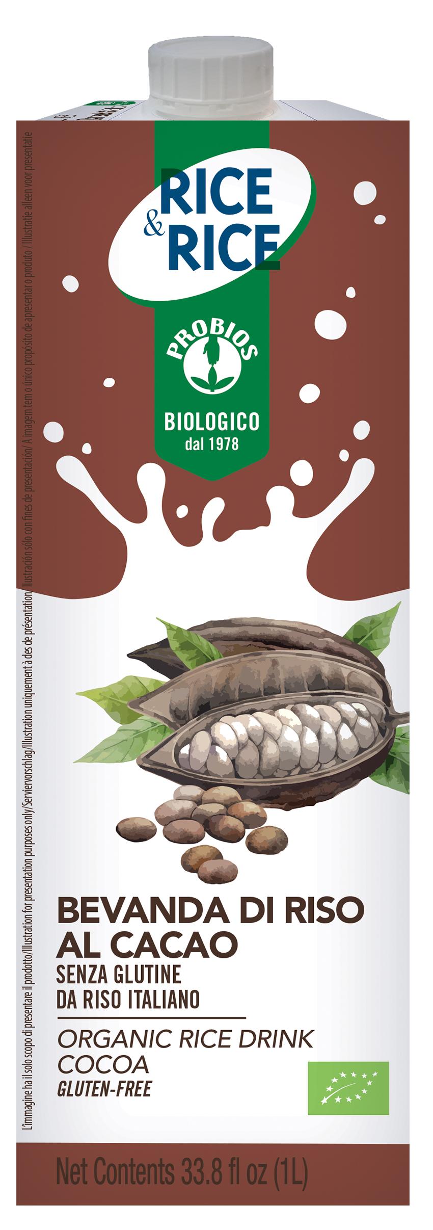 Rice&Rice Drink Bevanda Di Riso Al Cacao Biologico 1l