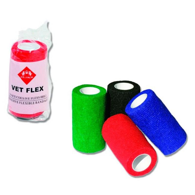 Vet Flex Fasce Coesive Flessibili per Cavalli Colore Nero 10cm 12 Fasce