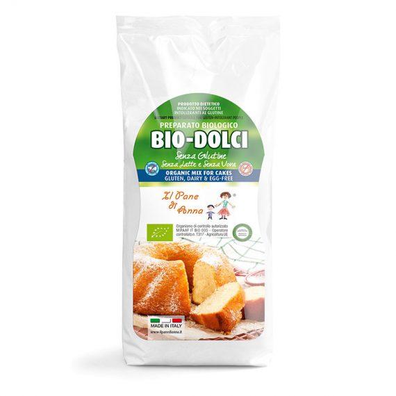 Il Pane di Anna Bio Dolci Preparato per Dolci Bio Senza Glutine Senza Latte Senza Uova 250g