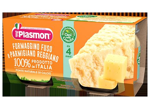 Plasmon Omogeneizzato Formaggino Fuso Con Parmigiano Reggiano 2x80g