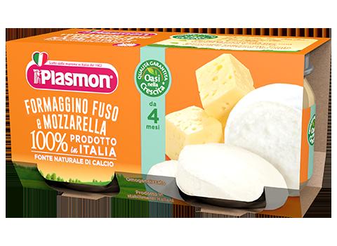 Plasmon Omogeneizzato Formaggino Fuso Con Mozzarella 2x80g