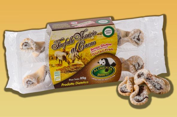 Image of Alimenta 2000 Farfalle Vesuvio Al Cacao Senza Glutine 85g 912530906