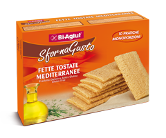Image of Biaglut Fette Tostate Mediterranee Senza Glutine 10 Monoporzioni 913020463