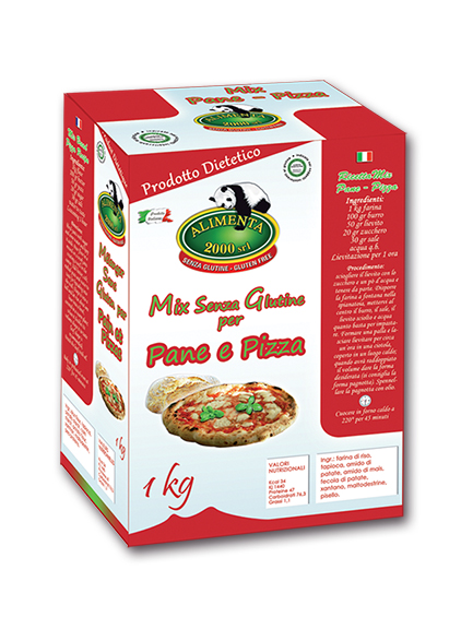 Image of Alimenta 2000 Farina Mix Pane Pizza Senza Glutine 1kg 913548739