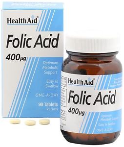 Health Aid Acido Folico 400 Mcg 90 Comp