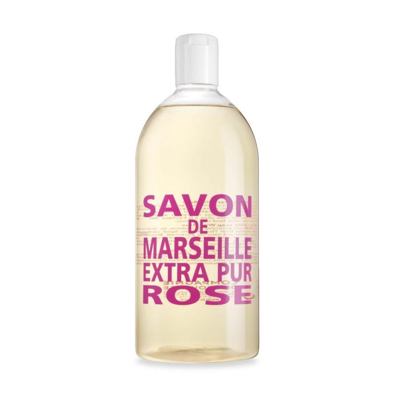 Compagnie De Provence Sapone Di Marsiglia Extra Puro Fragranza Rose Ricarica 1000ml