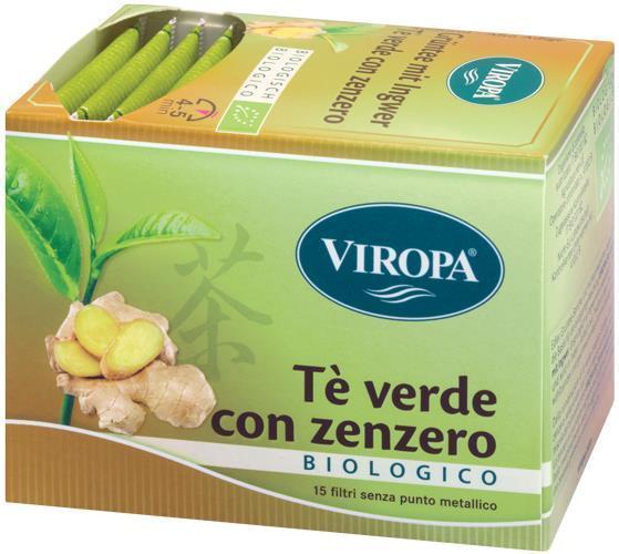 Viropa Te Verde&zenzero Bio 15 Bustine