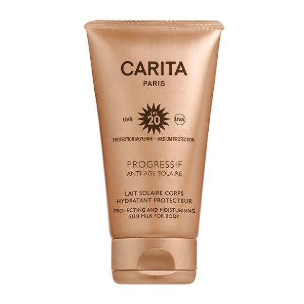 Image of Carita Progressif Anti Age Solaire Latte Solare Corpo Idratante Protettivo Spf 20 150ml 921380604