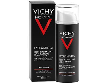 Vichy Homme Hydra Mag C + Trattamento Idratante Anti Fatica Viso e Occhi 50ml