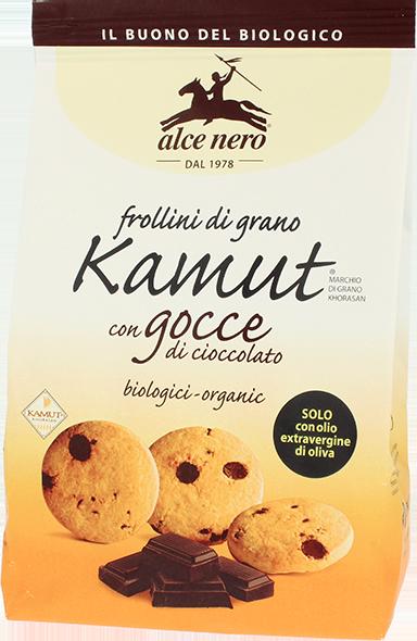 Image of Alce Nero Frollini Di Kamut Con Gocce Di Cioccolato Biologici 300g 921508394