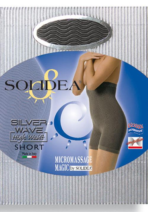 Solidea Silver Wave High Waist Short Colore Nero Taglia 4 L