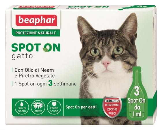 Image of Beaphar Spot On Gatto Protezione Naturale 3x1ml 921723437